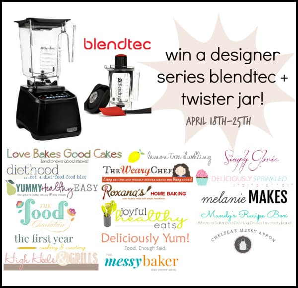 Blendtec and Twister Jar Giveaway | www.diethood.com