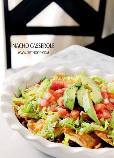 Nacho Casserole at Diethood