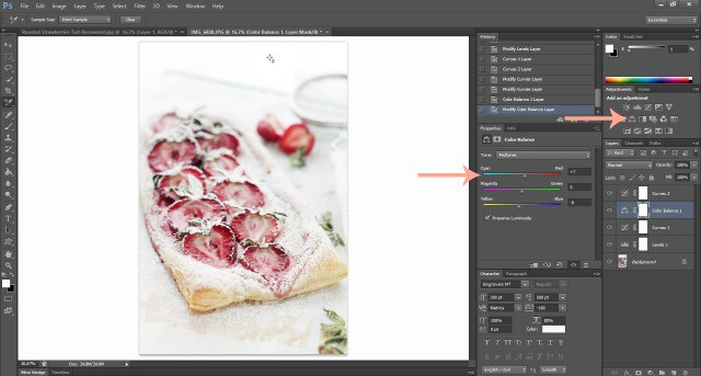 Photoshop Color Balance Food Photography: How To Edit Photos In Photoshop