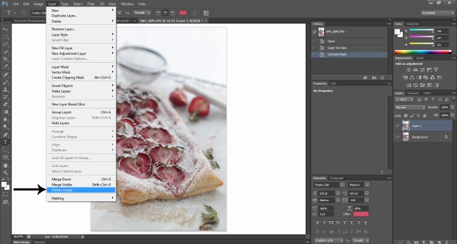 Photoshop Screenshot  Food Photography: How To Edit Photos In Photoshop