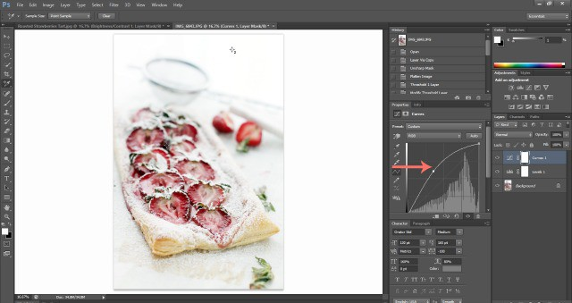 Screenshot Add Light Food Photography: How To Edit Photos In Photoshop