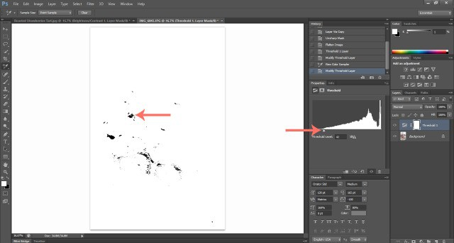 Screenshot Dark Threshold Food Photography: How To Edit Photos In Photoshop