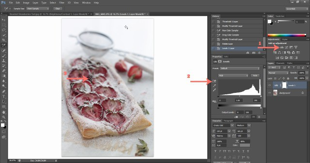 Screenshot Levels Food Photography: How To Edit Photos In Photoshop