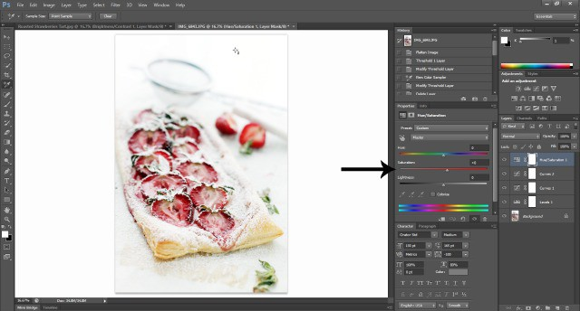 Screenshot Photoshop Tutorial Food Photography: How To Edit Photos In Photoshop
