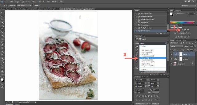 Screenshot Photoshop Tutorials Food Photography: How To Edit Photos In Photoshop