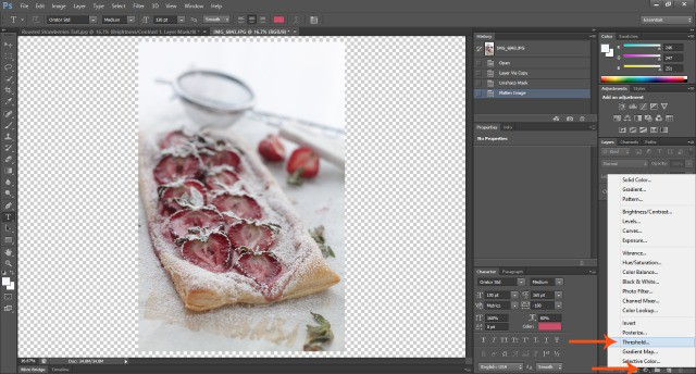Screenshot Threshold  Food Photography: How To Edit Photos In Photoshop