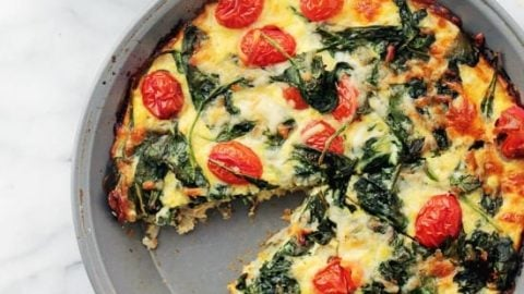 Hashbrowns Spinach And Tomato Pie Recipe Diethood