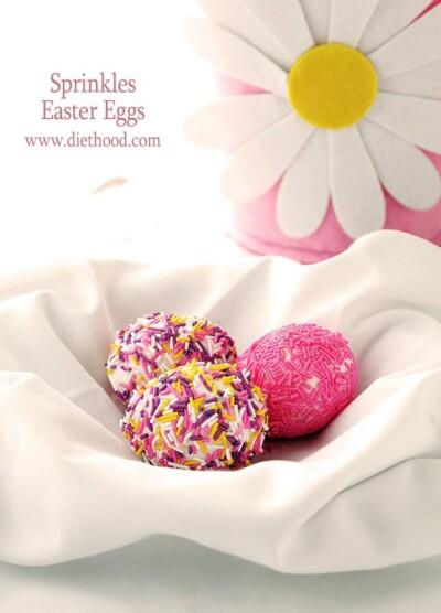 Sprinkles Easter Eggs | www.diethood.com