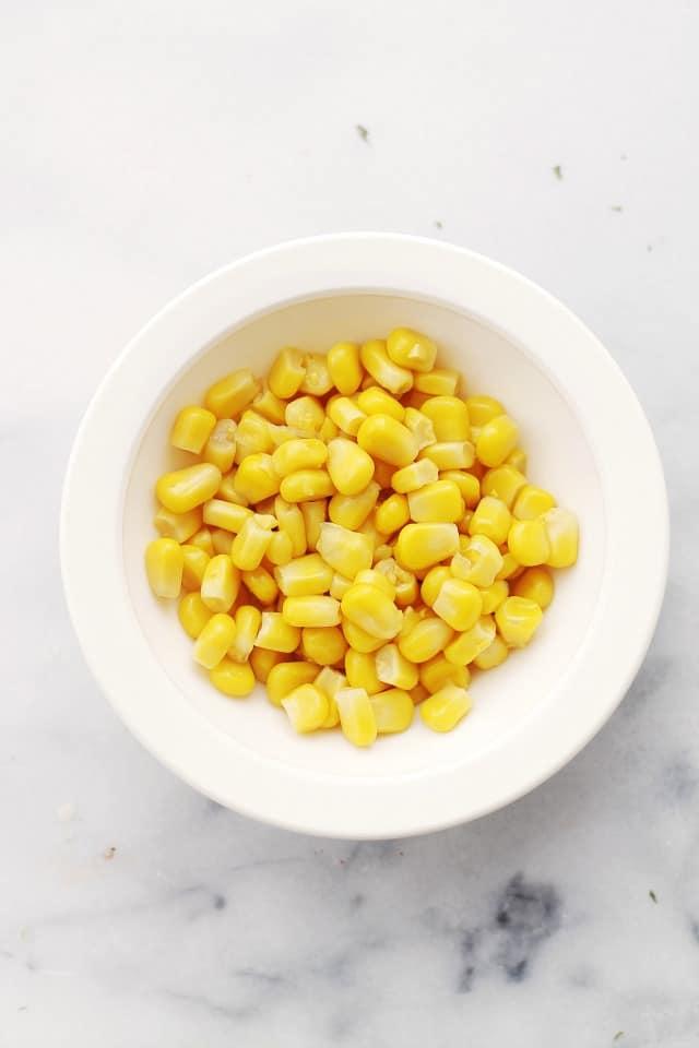 Sweet Corn Roasted Sweet Corn Mediterranean Salad {$50 Visa Gift Card Giveaway}