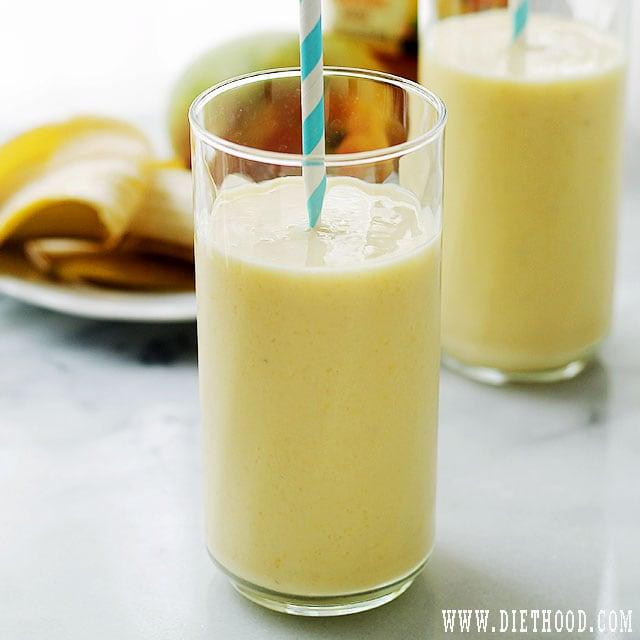 Banana Mango Smoothie Recipe Banana Mango Smoothies + Welchs Farmers Pick 100% Juices