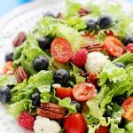 Berry Caprese Salad with Light Balsamic Vinaigrette
