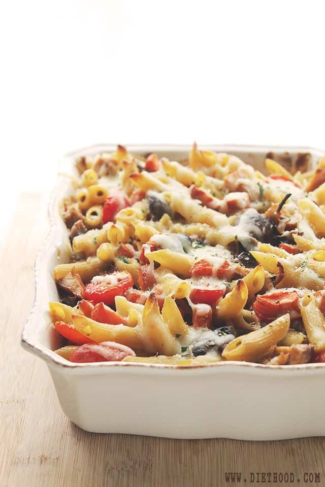 Chicken Vegetables Pasta Bake Chicken and Vegetables Pasta Bake