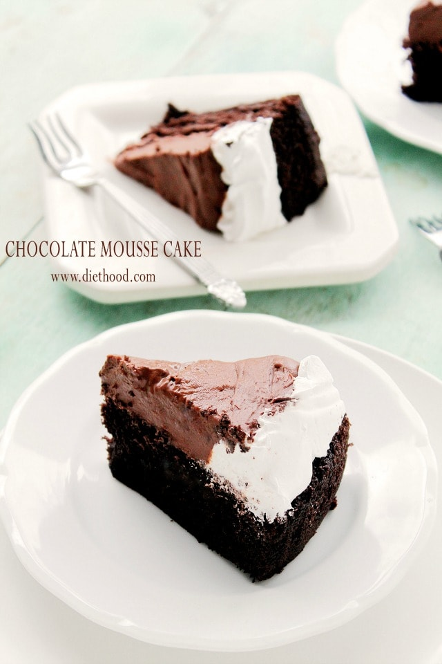 Cake With Chocolate Mousse : Chocolate Mousse Cake Recipe Diethood