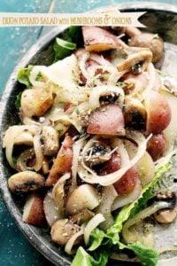 Dijon Potato Salad with Mushrooms & Onions | Potato Salad Recipe