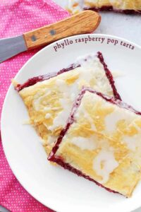 Phyllo Raspberry Pop Tarts with Vanilla Glaze | Homemade Pop Tarts