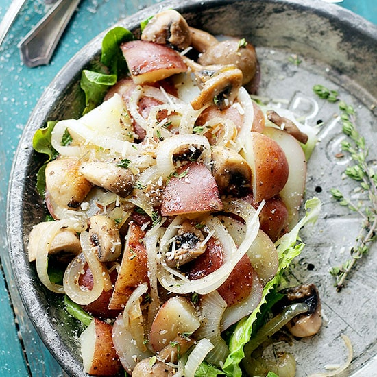 Dijon Potato Salad with Mushrooms and Onions | www.diethood.com | This delicious potato salad with mushrooms and onions, tossed with a beautiful, tangy dijon mustard dressing, is one of my family's favorite side-dish salads. | #potatoes #recipe #potatosalad #salad