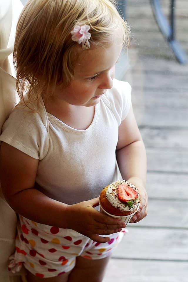 Aleksandra's Birthday Cupcake