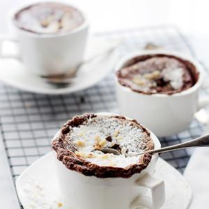 Boozy Hazelnut Chocolate Souffle