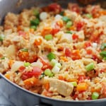 Chicken Rice and Vegetable Skillet