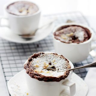 Boozy Hazelnut Chocolate Souffle