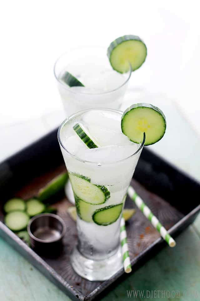Cucumber Mojitos from Diethood Cucumber Mojito