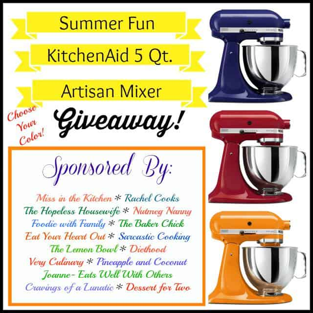 KitchenAid Stand Mixer Giveaway Southwestern Orzo Salad + KitchenAid Stand Mixer Giveaway