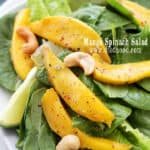Healthy Mango Spinach Salad with Homemade Honey Lime Dressing Recipe