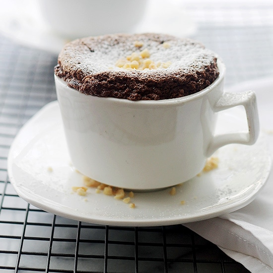 Boozy Hazelnut Chocolate Souffle | www.diethood.com |Made with delicious chocolate and hazelnut liqeuer, this elegant, French dessert may look like a lot of work, but you'll be surprised to see just how incredibly easy it is to make! | #recipe #chocolate #souffle