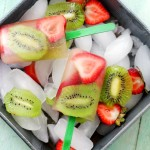 Strawberry-Kiwi Fruit Popsicles