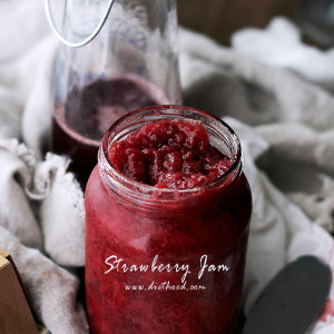 Homemade Strawberry Jam | www.diethood.com | No pectin, incredibly flavorful 3-ingredient Strawberry Jam. | #strawberries #recipes