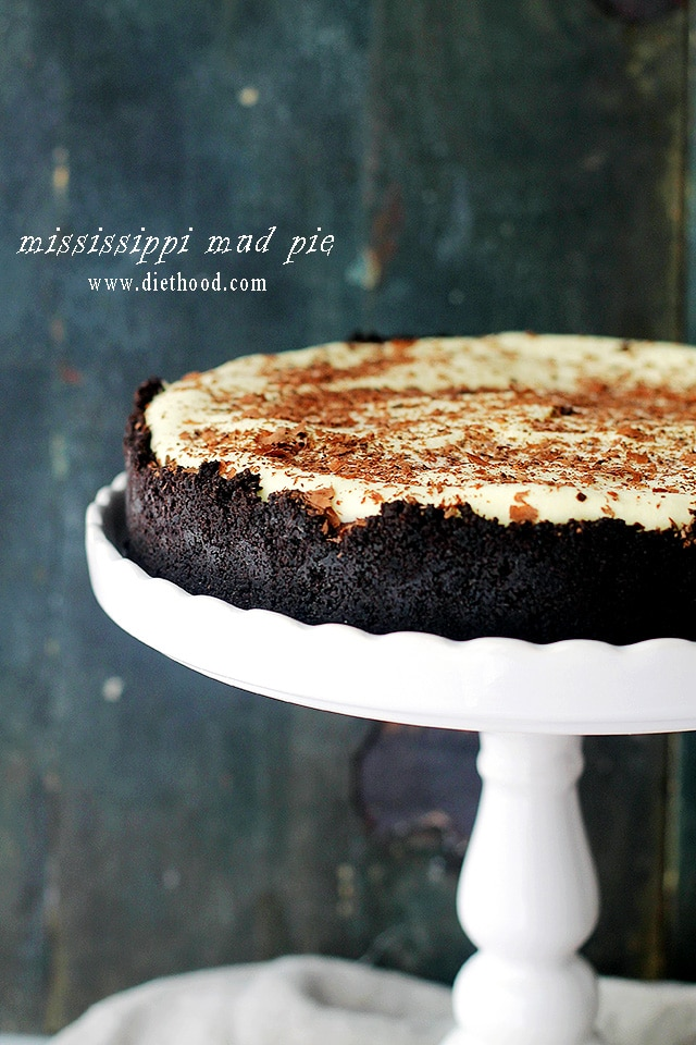 Mississippi Mud Pie | www.diethood.com | Incredibly rich and delicious layers of chocolate and whipped cream nestled in a beautiful oreo cookie crust. | #chocolateparty #chocolate #recipes