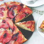 Peach Upside-Down Ricotta Cake | www.diethood.com | Fluffy and delicious, lightened-up upside-down cake made with ricotta cheese and fresh peaches. | #recipe #upsidedowncake #peaches