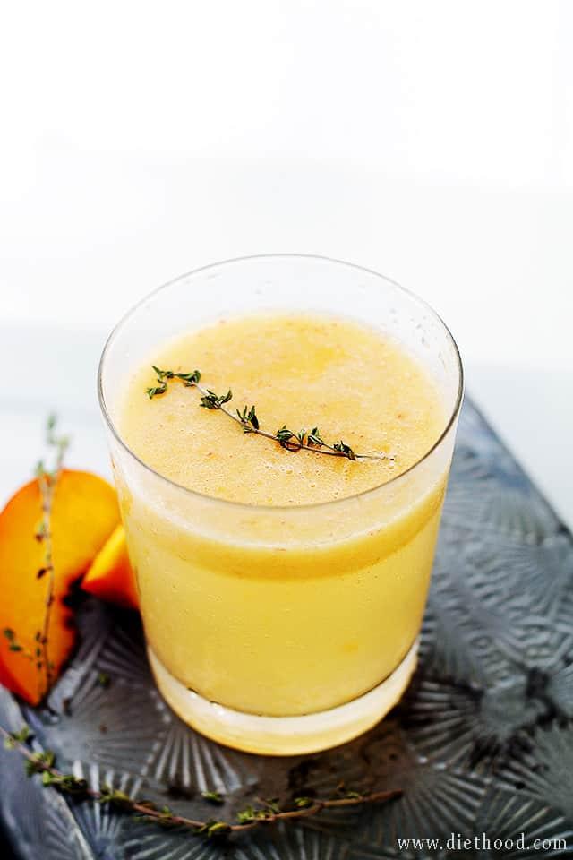 Peach Thyme Mimosas Peach and Thyme Mimosas