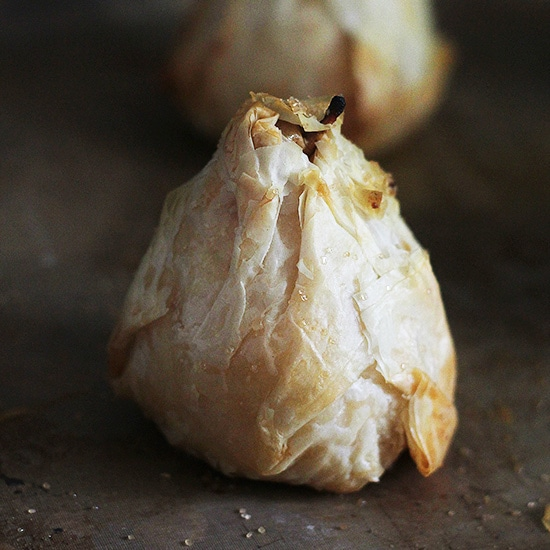 Phyllo Pears Recipe by Diethood Phyllo Wrapped Chocolate Pear Dumplings