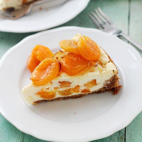 Ricotta Apricot Cheesecake Recipe at Diethood Apricot Ricotta Cheesecake