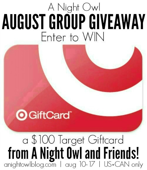 ANO Aug Group Giveaway $100 Target Gift Card Giveaway