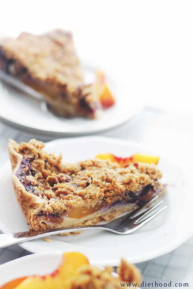 Blueberry Custard Pie Peach Blueberry Custard Pie with Streusel Topping