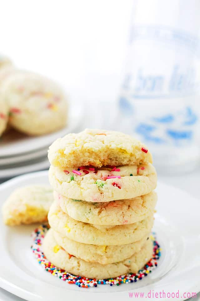 Cake Mix Cookies Cake Batter Funfetti Cookies | Sallys Bridal Shower