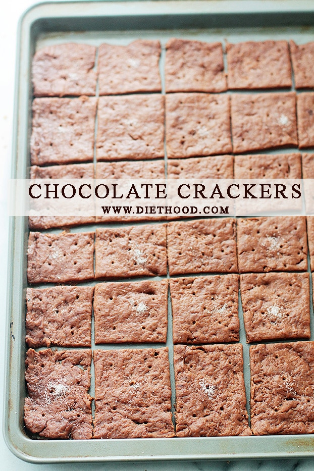 Chocolate Crackers at Diethood Chocolate Crackers