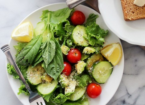 Salad with Laughing Cow via Diethood