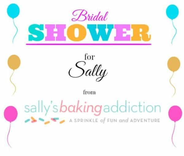 Sallys Bridal Shower Logo Cake Batter Funfetti Cookies | Sallys Bridal Shower