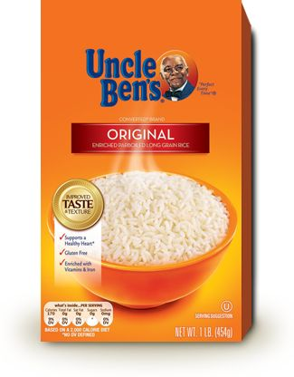 A box of Uncle Ben's Rice