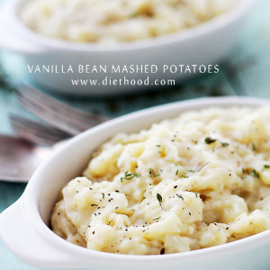 Vanilla Bean Mashed Potatoes | www.diethood.com | Vanilla adds a lot of flavor to this classic mashed potatoes recipe.