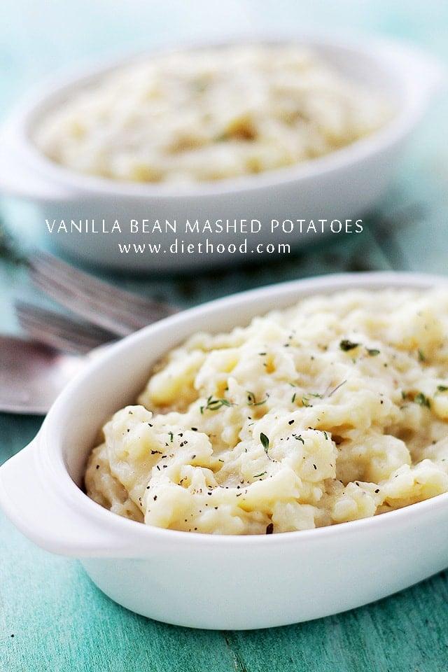 Vanilla Mashed Potatoes Vanilla Bean Mashed Potatoes | Sizzling Summer Retreat on Thingamajig Tuesdays