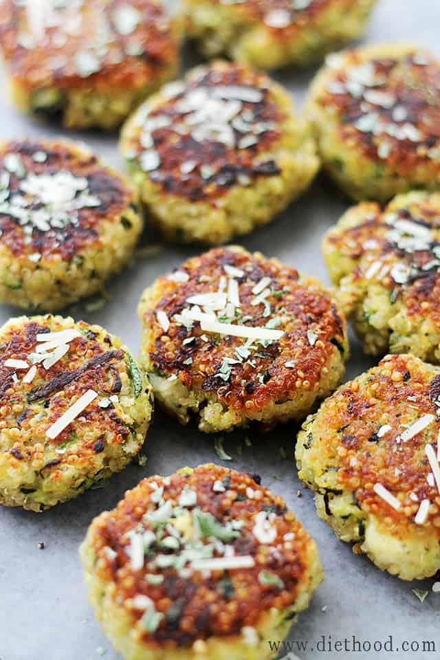 Zucchini Patties Garlicky & Cheesy Quinoa Zucchini Fritters
