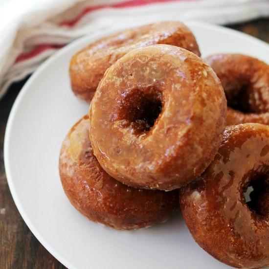 Baked Doughnuts Recipe Salted Caramel Glazed Pumpkin Donuts