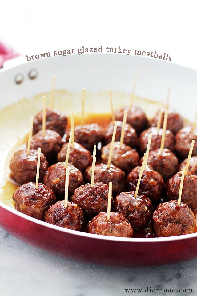 Brown Sugar-Glazed Turkey Meatballs – These Brown Sugar-Glazed ...