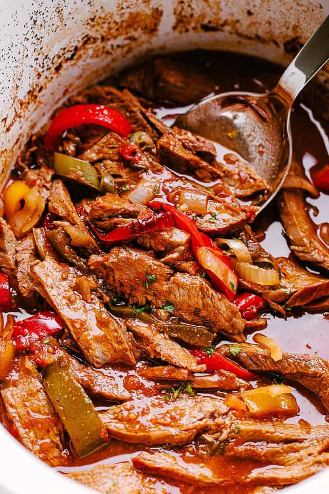 shredded beef in crock pot