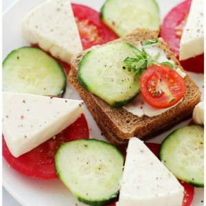 Strawberry Jam Cheese Wedges and Tea Sandwiches