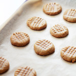 Gluten Free Salted Peanut Butter Cookies | www.diethood.com | Made with just a few ingredients, these Peanut Butter Cookies are fudgy, sweet & salty, gluten free and naturally sweetened!